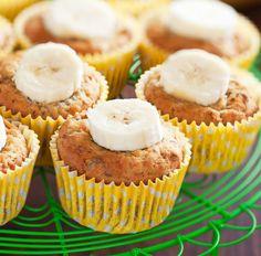 Muffin mit Banane und getrockneten Cranberries