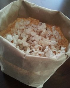 Brown bag microwave popcorn, cheaper alternative plus flavor combos in recipe