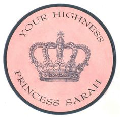 Your Highness Personalized Plaque from www.wellappointedhouse.com #homedecor #decorate #monogramshop #babygifts