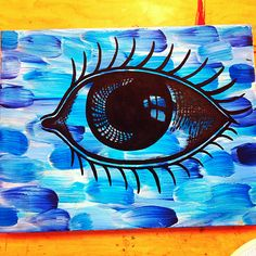 Diy eye painted canvas....this looks wayyy outta my league.. but. i'll pin it anyway