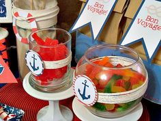 Hostess with the Mostess® - Sail Away Nautical Party- Fish bait