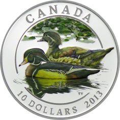 10 Dollar Silber Kanadische Enten - Brautente PP