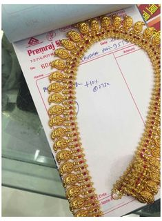 Mango Mala Jewellery, Gold Temple Jewellery, Indian Wedding Jewelry, Gold Jewellery Design, Gold Jewelry, India Jewelry, Gold Necklaces, Antique Jewellery, Antique Necklace