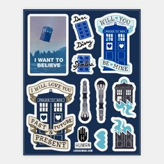 Doctor Who Tardis Stickers | Stickers, Sticker Sheets and Vinyl Stickers | HUMAN