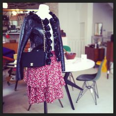 Chanel Handbag and Jacket and Valentino skirt for sale at  our shop à demain, Paris.