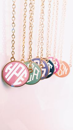 How fun are these Monogrammed Enamel Necklaces?! They are on SALE now and there are only a few left! Hurry and get yours personalized now at Marleylilly.com!