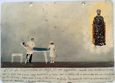 Oil on tin, 1937. : Propiedad del Santuario de San Francisco de Asís de la Diócesis de Matehuala, SLP, México/INAH  On 1 September 1937 I was attacked and wounded in my face and as a result I became ill and had to have an operation in a hospital in Monterrey. I asked Saint Francis of Real de Catorce with all my faith for my recovery, promising him this retablo. (Juan M. Perez).