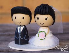 Hey, I found this really awesome Etsy listing at https://www.etsy.com/listing/179978666/cute-wedding-cake-topper-bride-and-groom