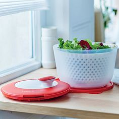 Rinse, spin, serve and store - all in one! Rinse and dry your leafy greens quickly and easily using our Salad Spinner!