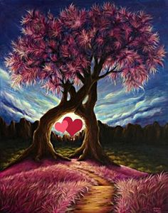The tree of love its roots hath spread  Deep in my heart, and rears its head;  Rich are its fruits: they joy dispense;  Transport the heart, and ravish sense.  In love's sweet swoon to thee I cleave,  Bless'd source of love . . .    - St. Francis of Asissi, Into Love's Furnace I am Cast.