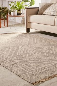 Urban Outfitters Gleason Woven Wool Rug 2x3 Rugs Australia