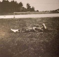 "Grand Duchess Tatiana Nikolaevna Romanova of Russia lying on the grass near the tennis courts.  ""AL"""