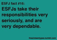 Myers-Briggs Personality Types • Posts Tagged 'esfj'