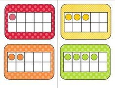 Here's a set of color-coordinated ten frames and number cards from 1-10.