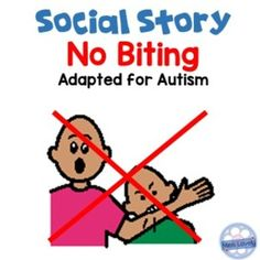 Social Story No Biting Social Story Adapted book - No Biting reminds students what their teeth should be used for, and what they can do to calm down. I've added visuals to reinforce behaviours and make the book more interactive, ideal in our calm down corner, independent work areas or