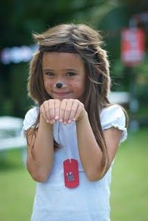 20 DIY Unique Last Minute Halloween Costumes for Kids - Puppy Dog with Tags Kid Halloween Costume - Party Accessories Puppy Face Paint, Dog Face Paints, Halloween Party Kostüm, Unique Halloween Costumes, Last Minute Halloween Costumes, Halloween Kids, Dog Ears Headband, Ear Headbands, Halloween Makeup