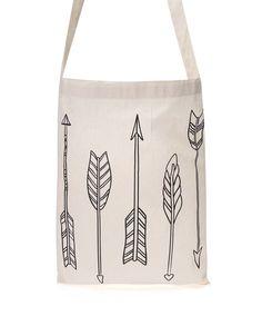 ZOOT Originál - Krémová plátěná taška s potiskem Šípy - 1