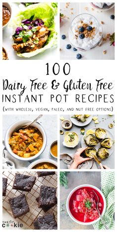 dairy free and gluten free Instant pot recipes? We gathered up 100 great pressure cooker recipes that have you covered from breakfast to dessert, with lots of paleo, keto, vegan, and nut free options! Lactose Free Recipes, Dairy Free Diet, Allergy Free Recipes, Paleo Recipes, Dessert Recipes, Dinner Recipes, Free From Recipes, Lactose Free Keto, Gluten And Diary Free Recipes
