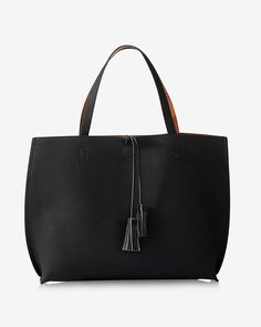 Minimalist Chic Tote Bag With Wristlet Black