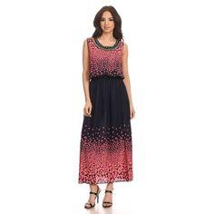 Shop for High Secret Women's Sleeveless Printed Embellished Maxi Dress. Free…