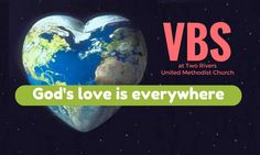 "Two Rivers Church is planning a three-night Vacation Bible School trip around the world. Exploring how ""God's love is everywhere,"" the students at Two Rivers will enjoy games, sna… Two Rivers, Vacation Bible School, Gods Love, June, Fat, Pastor, Love Of God"