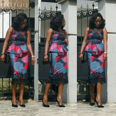If yes, try some of the latest Ankara styles we have lined up for you today. They are sexy, sassy and look absolutely gorgeous. This season, Ankara fashion has a kind of 'viby' feel to it. These ladies have got their name on each styl Trendy Ankara Styles, Ankara Dress Styles, African Print Dresses, African Dress, African Fashion Ankara, Latest African Fashion Dresses, African Print Fashion, African Attire, African Wear