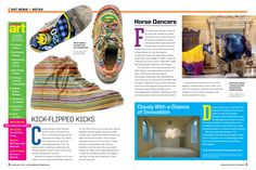 News+Notes is a colorful, engaging section from Scholastic ART. A Grades 7-12 finalist in Departments, Columns, and Sections.