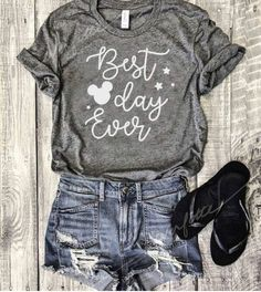 Discover ideas about shirts for disney world Cute Disney Outfits, Disneyland Outfits, Cute Outfits, Disneyland Trip, Disney Clothes, Disney Vacation Shirts, Disney Tees, Cute Disney Shirts, Disney Apparel