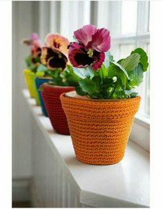 Tecendo Artes em Crochet: Capinhas para Vasos com Gráfico!
