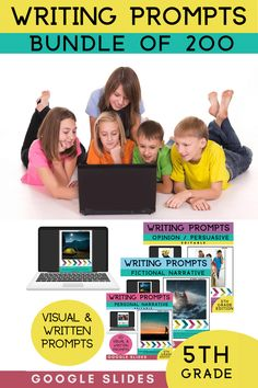 5th Grade Writing Prompts includes 200 visual writing prompts and editable written prompts to support your students writing. 200 writing prompts provides you with an entire years worth of writing prompts. 5th Grade Fictional Narrative Writing Prompts includes 50 visual writing prompts and written prompts to support your students personal narrative writing. 5th Grade Writing Prompts opinion writing / persuasive writing. 5th Grade narrative Writing Prompts #tpt #sarahanne #writingprompts…
