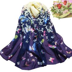 1PC 155cmx52cm Soft Long Voile Neck Women Spring Autumn Large Scarf Wrap Shawl Stole Scarve Lady Camping Hiking Scarf Jan12