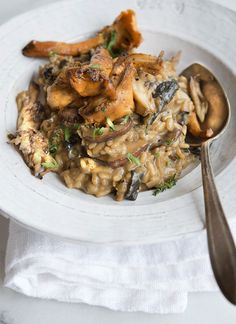 Mushroom Risotto (I love how many different varieties of mushrooms she puts into this, it looks crazy flavorful!)