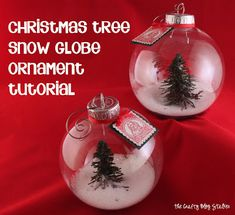 Christmas Tree Snow Globe Ornament Tutorial Video