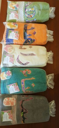 Beautiful and unique handmade gifts ... personalised towels