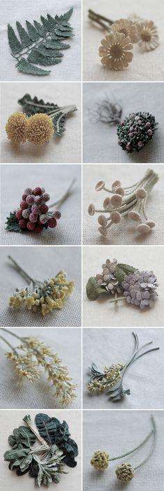 INSPIRATION : crochet greens. so sophisticate. Itoamika Jung Jung's Fiber Art ~ crochet