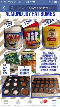 Almond Joy Fat Bombs for low card or keto diet