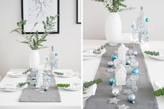 Christmas Table Blue