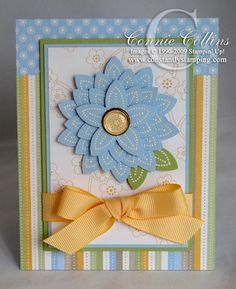 Hand made cards that utilized one or more Stampin Up punches