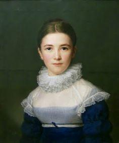 """""""Lina Gröger (Portrait of the Artist's Foster Daughter)"""", 1802, by Friedrich Carl Gröger (German, 1766-1838)"""