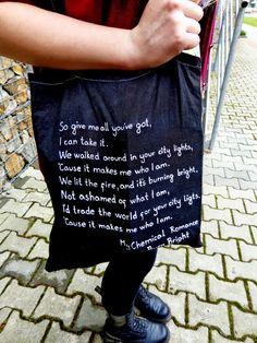 DIY bag  Burn Bright - My Chemical Romance
