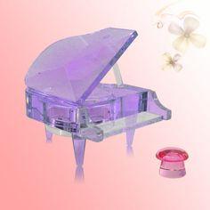 Crystal Piano Music Box (Purple) - Great Birthday Wedding Anniversary Gift/ Present