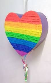Resultado de imagen para piñata arco iris
