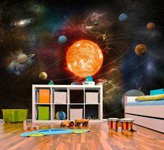 αυτοκόλλητο με θέμα το διάστημα για παιδικό δωμάτιο