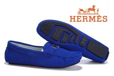 Hermes Ladies Moccasin Blue