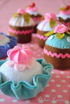 make felt cupcakes!
