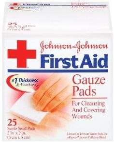 Amazon.com: Johnson & Johnson 2 Inch x 2 Inch hospital Grade Gauze Pad, 25 Count (Pack of 2): Health & Personal Care