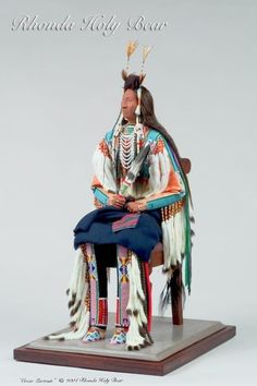 Crow Portrait  Rhonda Holy bear Lakota Doll/figure Artist