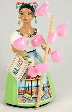 """Lupita"" Ceramic Doll Figurine Pottery Authentic Premier Original Collectible Mexican Folk Art Decorative Tonala Mexico Home Decor Dragon Fruit Smoothie, Mexican Heritage, Chicano Art, Clothespin Dolls, Mexican Folk Art, Cotton Candy, Art Dolls, Pottery, Ceramics"