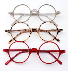 Vintage Retro Flexible Round Amber Grey Red Eyeglass Frame Spectacles Eyewear RX | eBay