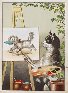 Artistic Pussy, 1890 by Lothar Meggendorfer